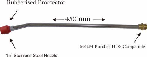 Pressure Washer Angled Extension Lance Nilfisk Karcher Bosch Lavor Compatible