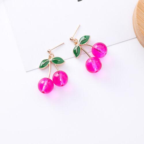 Lovely Alloy Cherry Shape Stud Earrings For Women Girl Ear Stud Fashion Jewelry