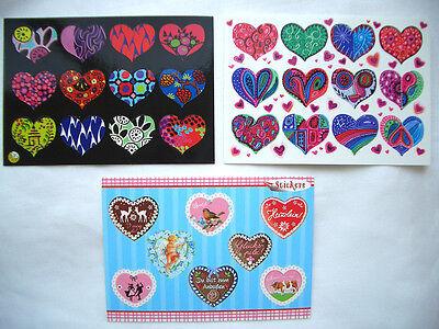 Zauberhafte*Sticker&Postkarte*Herzen*bayrisch*little heart*sweet heart*10 x15cm