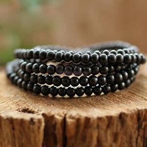 Black-Tibetan-Sandalwood-Buddhist-Buddha-Prayer-Beads-Mala-Bracelet-Necklace-li