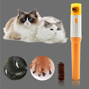 Pet-Cat-Nail-Clipper-Pedi-Painless-Dogs-Cats-Paw-Electric-Nail-Trimmer-Cut-AU