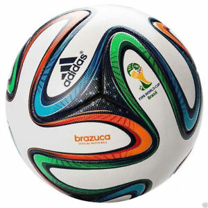reputable site 3fb33 18cd5 Image is loading ADIDAS-BRAZUCA-OFFICIAL-SOCCER-MATCH-BALL-FIFA-WORLD-