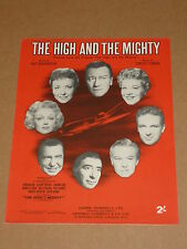 """The High And The Mighty"" 1954 film sheet music(John Wayne/Robert Stack)"