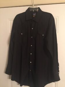 Rock-Canyon-Western-Cowboy-Black-Satin-Pearl-Snap-Shirt-Big-Man-17-17-1-2-XL-EXC
