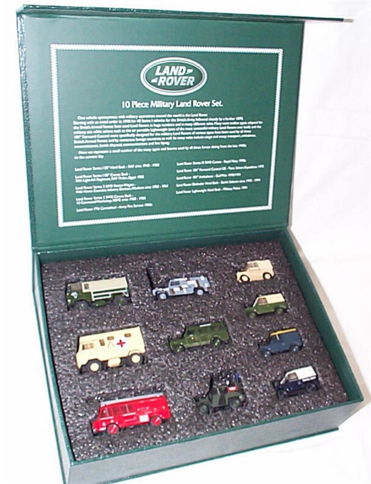 venta con alto descuento 10 10 10 Piezas Set Land Rover Militar Escala 1-76 Nuevo en Caja Dura 76Set57  venta directa de fábrica