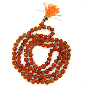 Rudraksha String 108+1 Beads,6.00 MM, Hindu Prayer Meditation - 1532723