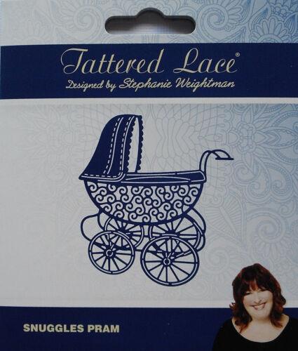 436517 Tattered Lace Dies SNUGGLES PRAM Baby Carriage Metal Cutting Die