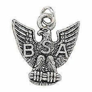 BOY-SCOUT-LICENSED-EAGLE-SCOUT-BSA-METAL-SILVER-TONE-CHARM-MOM-DAD-GIFT-NEW