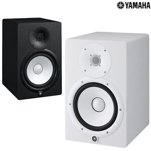 yamaha powered studio monitor hs 5 7 8 inch cone woofer subwoofer black white ebay. Black Bedroom Furniture Sets. Home Design Ideas