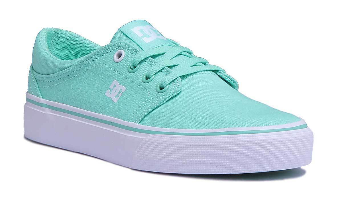 DC shoes Trase Tx Womens Canvas Mint Green Trainers UK Size 3 - 8