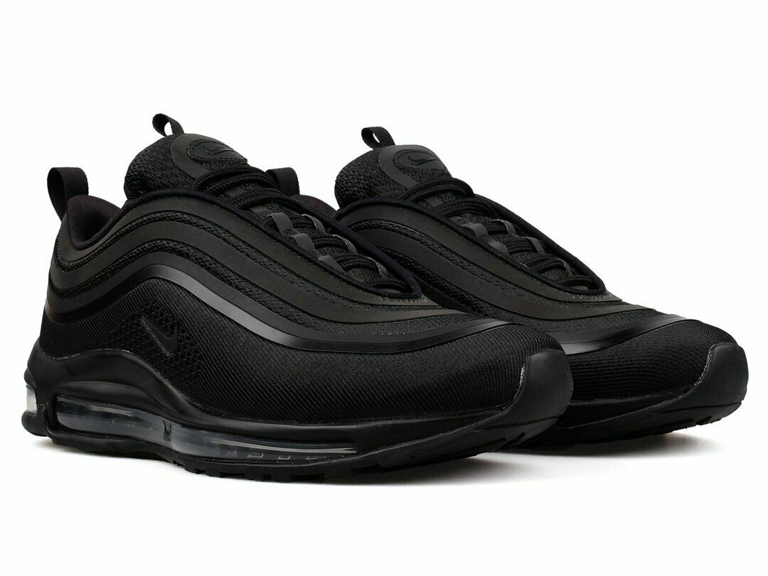 Nike Air Max 97 Ultra 17 'Triple Black' 918356-002 Men Us Size 100%AUTHENTIC DS