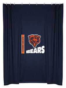 NEW-CHICAGO-BEARS-Logo-Jersey-Shower-Curtain-IN-STOCK