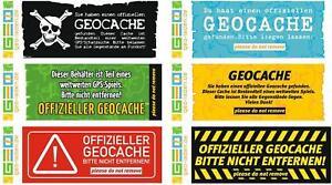 6-x-Geocache-Hinweis-Aufkleber-Geocaching-Versteck-Set