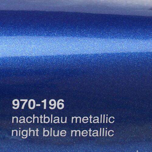 17,09€//m² 0,5m x1,52m Oracal 970RA NachtBlau Metallic Glanz 196 Autofolie Folie