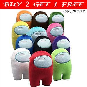 6pcs//set Among Us Plush Toys Animal Among Us Game Stuffed Doll 12 Colors