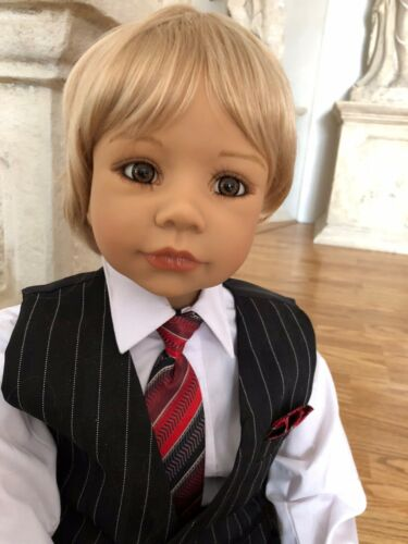 "Fits Up To A 20"" Head Masterpiece Dolls Hansel Blonde Boy's Wig"