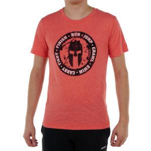83199a247 Men's Reebok Spartan Fan Tough Training T-Shirt Gym Workout Tee ...