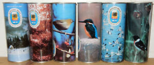 SUNTORY BIRDS Complete set of 6 Straight Steel cans from JAPAN (50cl)