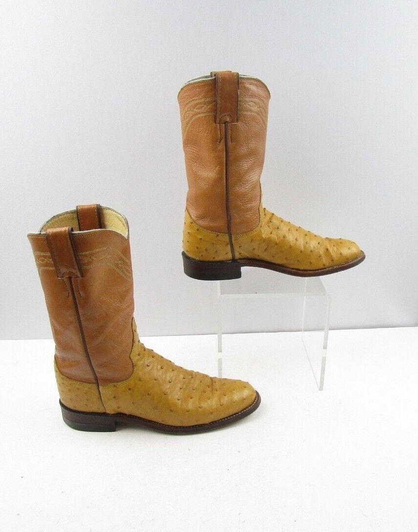 Ladies Justin Tan Full Quill Ostrich Roper Cowboy Cowboy Cowboy Boots Sz  6 B ( 20063 AD) 82cb7e