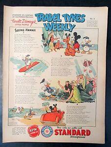 1939 Disney TRAVEL TYKES WEEKLY #5 Standard Oil premium. higher grade