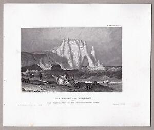 Etretat-Normandie-Frankreich-France-Grafik-Stich-Stahlstich-1850