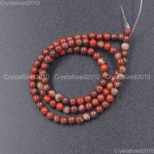 Natural Red Brecciated Jasper Gemstone Round Beads 4mm 6mm 8mm 10mm 12mm 16/""