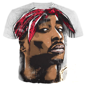 43868ed8 2018 Hip Hop Tupac 2Pac Graphic Tee Funny 3D Print Short Sleeve ...