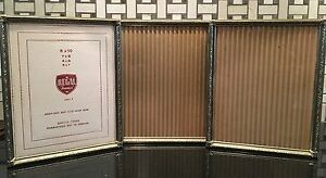 Tri Fold Gold Tone Vintage Photo Frame 8 X 10 Ebay