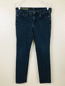 J-Crew-Toothpick-Skinny-Ankle-Blue-Jeans-Womens-30-x-30-Dark-Wash-USA-Stretch
