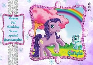Image Is Loading Personalised Birthday Card My Little Pony Daughter Granddaughter