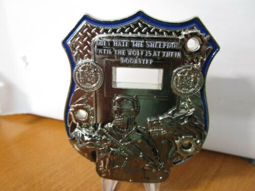 NYPD They Hate the Sheepdog Until The Wolf is at the Door Challenge Coin #336B.