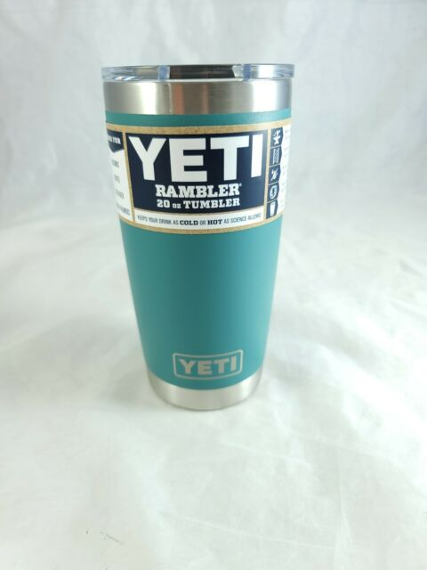 YETI Rambler River Green 20 oz Tumbler Stainless Steel Insulated MagSlider Lid