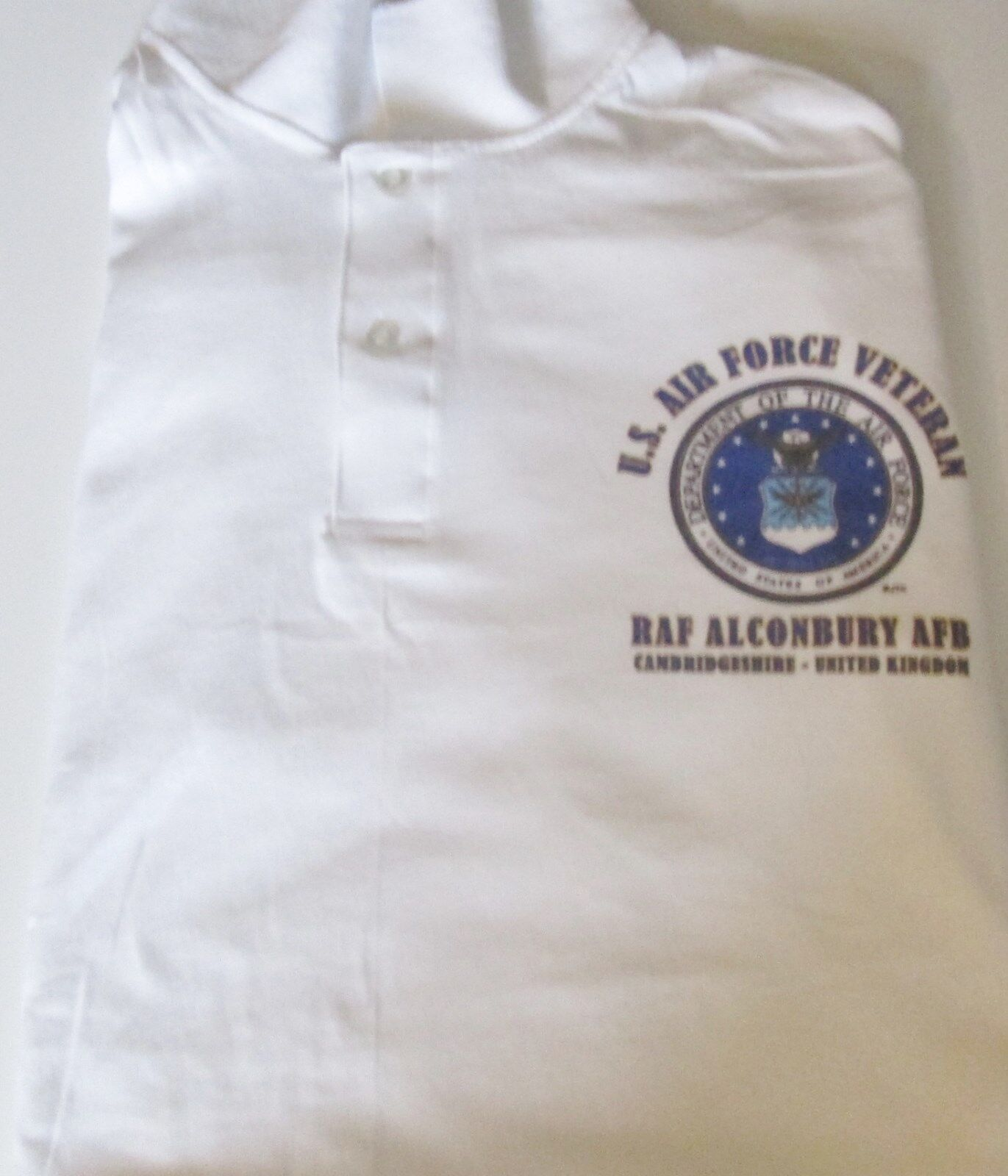RAF ALCONBURY AFBCAMBRIDGESHIRE-UNITED KINGDOMAIR FORCE LIGHTWEIGHT POLO SHIRT