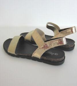 Savannah-F0R872-da-Donna-Color-Oro-Cinturino-Disegno-con-Serpente-Sandali-Taglia