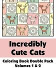 Incredibly Cute Cats Coloring Book Double Pack (Volumes 1 & 2) by H R Wallace Publishing, Various (Paperback / softback, 2013)