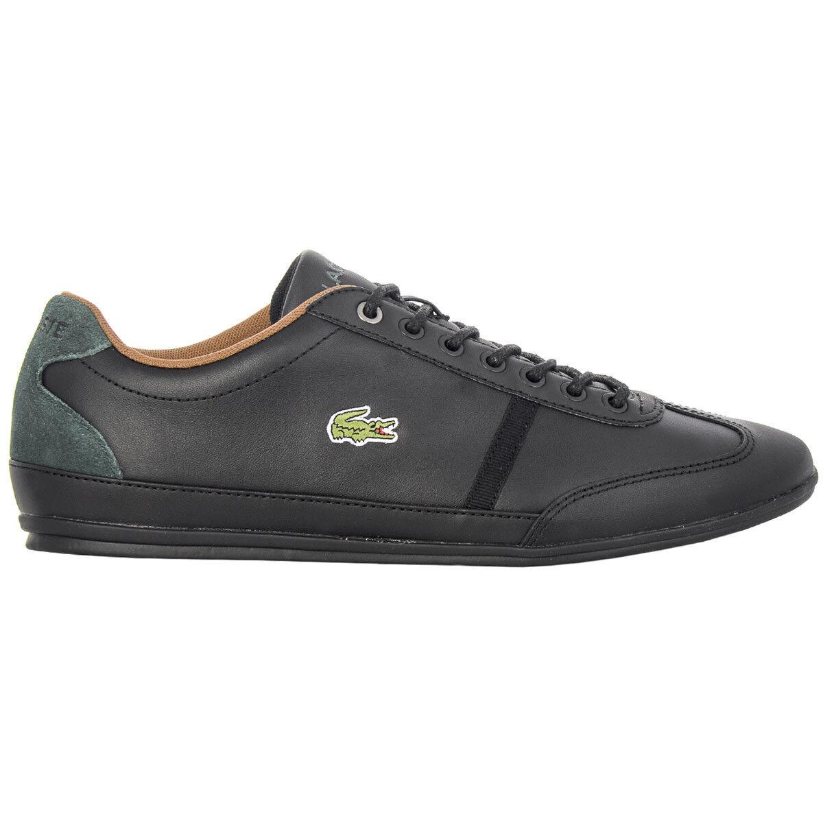 Lacoste Men scarpe da ginnastica Misano Sport  Leather nero Casual New CAM04602H  risposte rapide