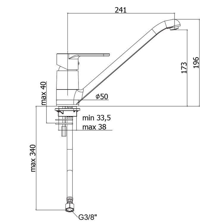 3S MISCELATORE PAFFONI GREEN GR182CR RUBINETTO LAVELLO CUCINA CUCINA CUCINA BOCCA GIREVOLE New | Technologie Sophistiquée  dad747