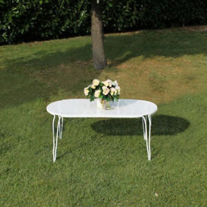 Tavolo Giardino Ferro Bianco.Tavolo Tavolino Esterno Giardino Ferro Bianco Arredamenti Esterni