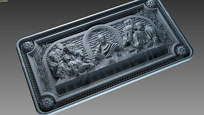 CNC 3d Relief Model STL for Router 3 axis Engraver  ArtCam # The Last Supper