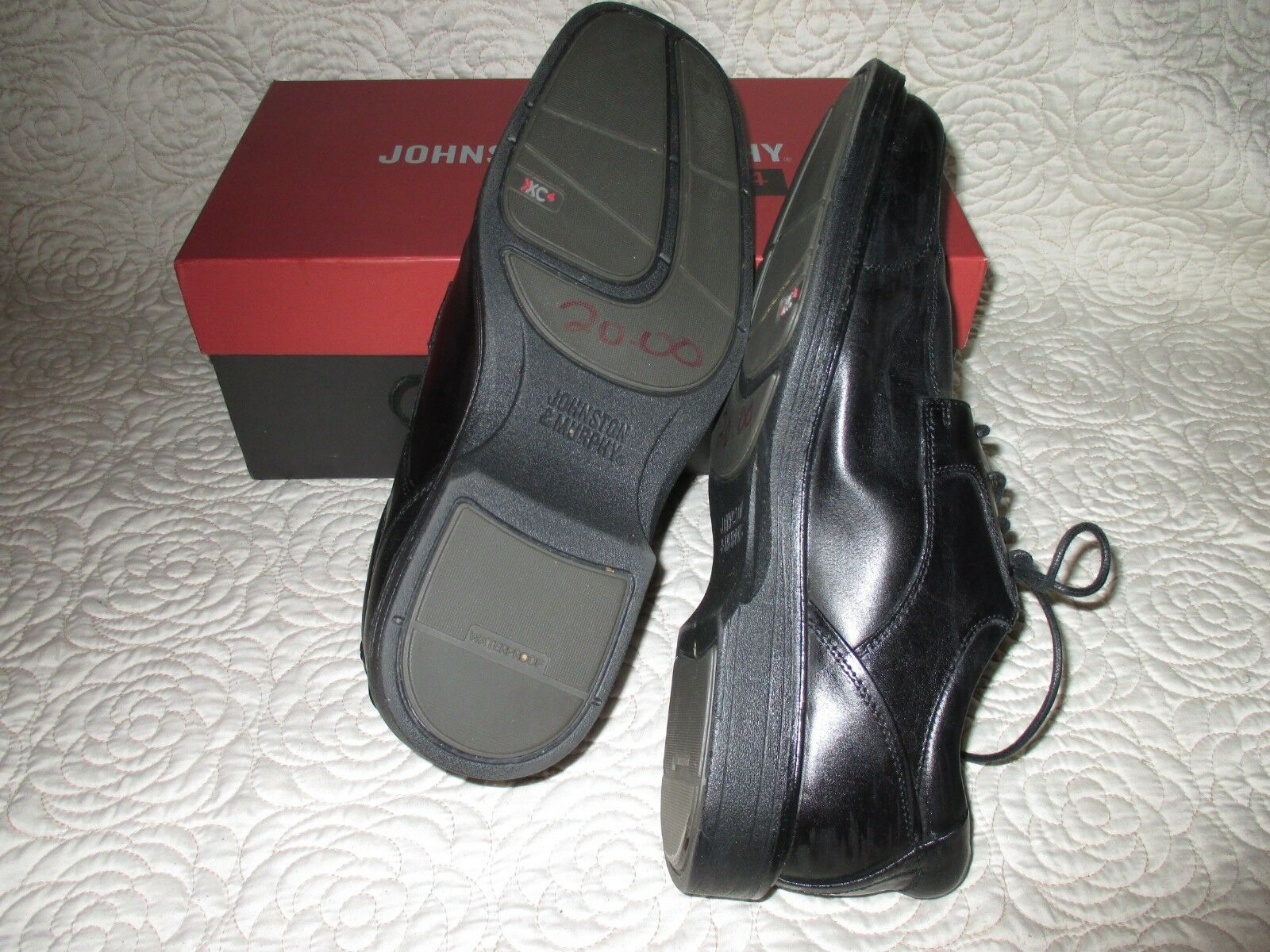 JOHNSON schwarz & MURPHY PATTISON LACE schwarz JOHNSON LEATHER XC4 Größe 10.5 M cb507a