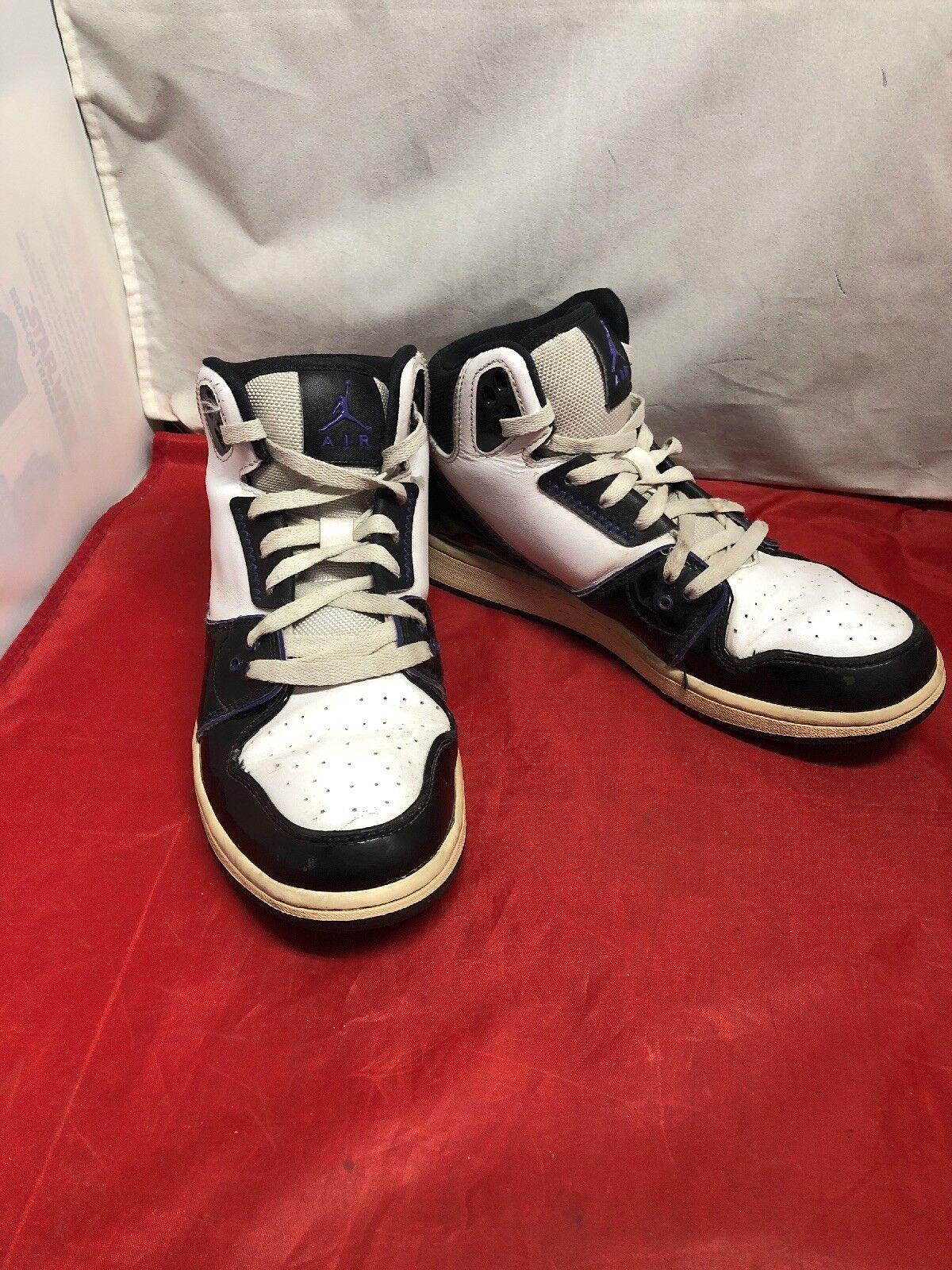 63cd9e902396b4 Nike Air Jordan 1 Flight 2 555798-153 White Black Purple Basketball ...