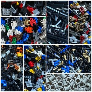 Lego Black Technic Axle Connector Hub with Two Bar Holders Parts Lot of 30