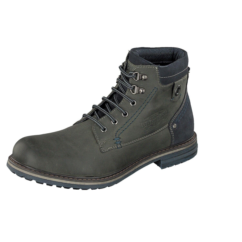 Dockers by Gerli 41GL002 Herren Schuhe Boots 220 darkgrey 102 Nappa Schnürschuh
