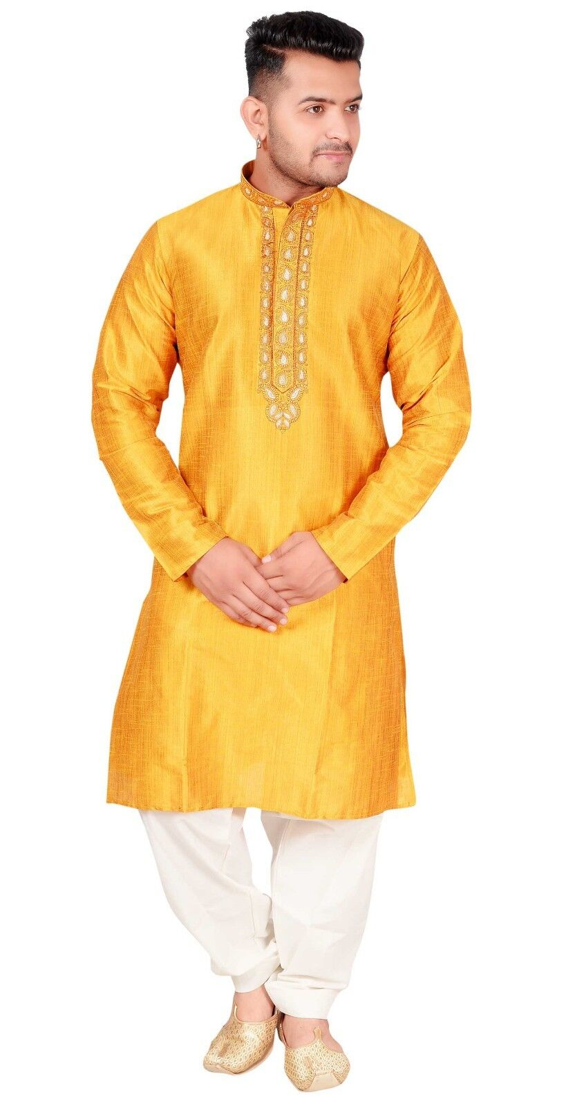 Men's Clothing Kurta Shalwar Kameez Pyjama Sherwani Wedding Party Wear EID 1834