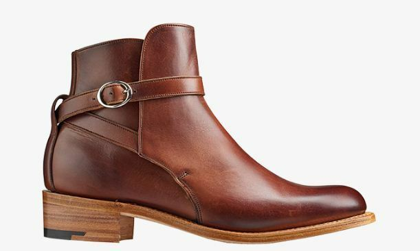 Handmade Women's Chelsea Buckle Strap Genuine Leather Formal Boots