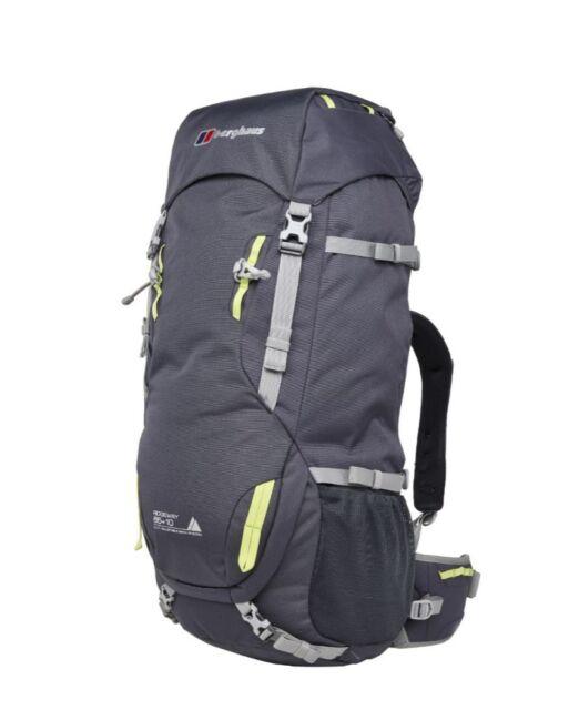 Berghaus Mens Ridgeway 65+10 Rucksack Grey Sports Outdoors Breathable Pockets