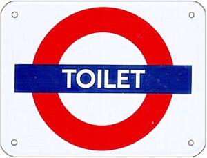 034-Gabinetto-034-London-Underground-Rotondi-Smaltato-Firmare-Medio-215mm-x-165mm