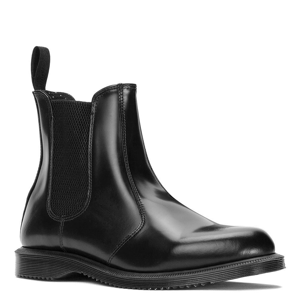 acquista online NIB Dr. Martens Donna  Flora Ankle Ankle Ankle Chelsea avvio nero POLISHED SMOOTH ALL Dimensione  ecco l'ultimo