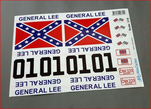 General lee rc car 1 10 10th scale decals stickers duke of hazzard already cut