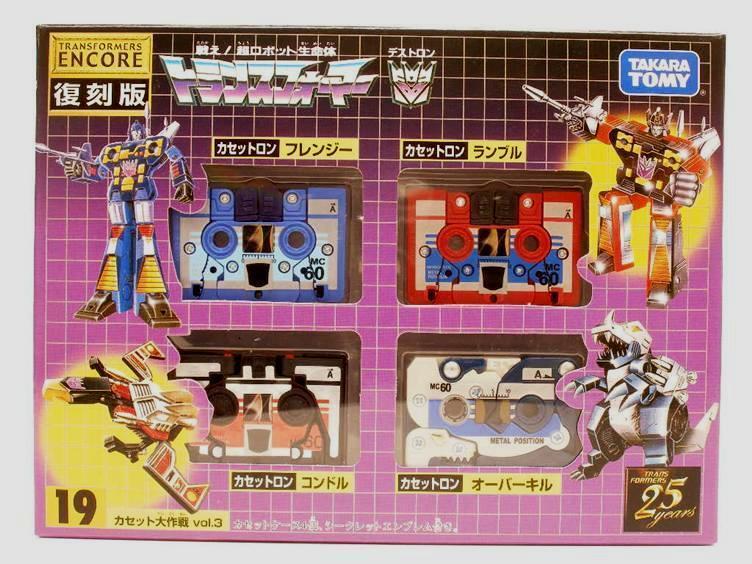 G1 Transformers Raro TAKARA ENCORE  19 casetes Vol.3 Y En Caja Sellada